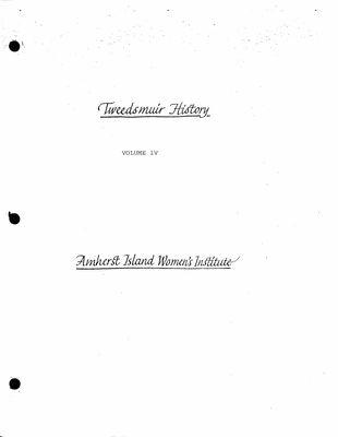 Amherst Island Tweedsmuir History, Volume 4 F1 2004-05