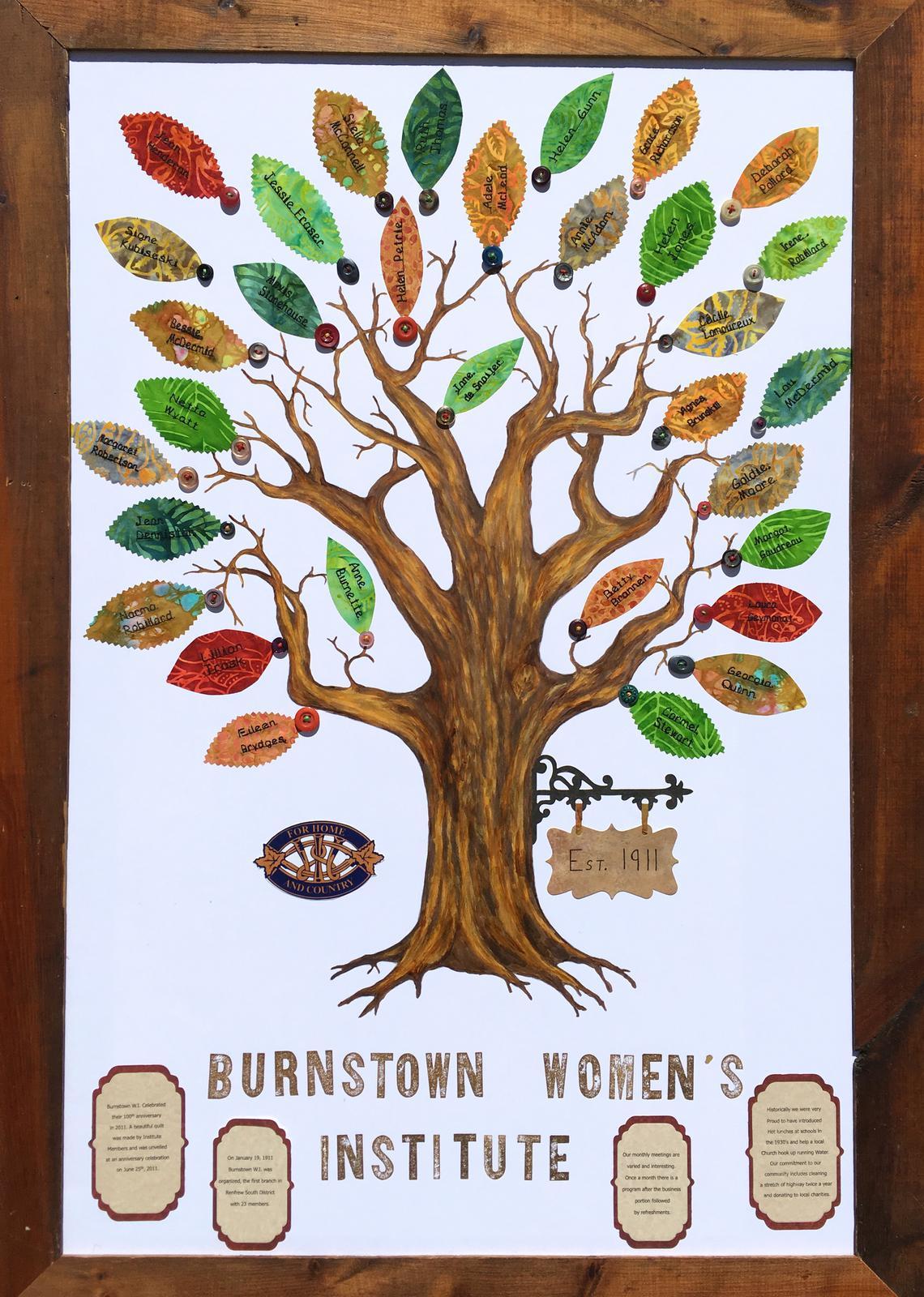 Canada 150 Art Tree Project - Burnstown W.I.