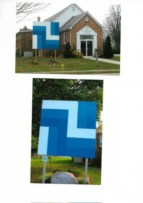 Barn Quilt at South Dunwich Community Hall