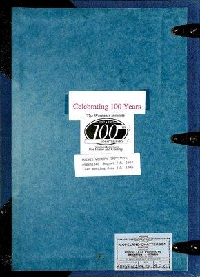 Quinte WI Tweedsmuir Community History - 1907-1994