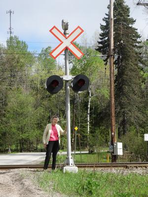 Trout Mills Railroad Crossing Light