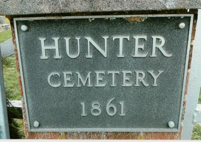 Hunter Cemetery Plaque