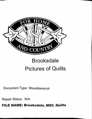 Brooksdale WI Quilts