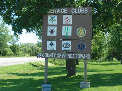 Prince Edward County Service Club Signs