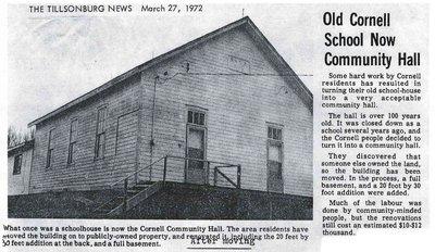 Cornell WI Hall - 1972