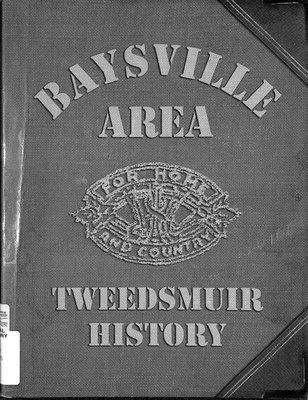 Baysville WI Tweedsmuir Community History, Volume 1