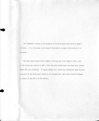 Emsdale Scotia WI Tweedsmuir Community History, Volume 6