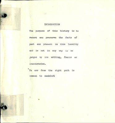 Shirley WI Tweedsmuir Community History, Volume 1