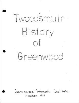 Greenwood WI Tweedsmuir Community History, Volume 1