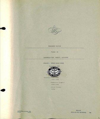 Laurentian View WI Tweedsmuir Community History, Volume 2: 1983-2000