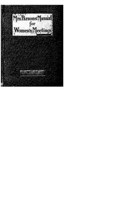 Westmeath WI Meeting Manual, 1919