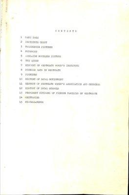Westmeath WI Tweedsmuir Community History, Volume 1: 1983