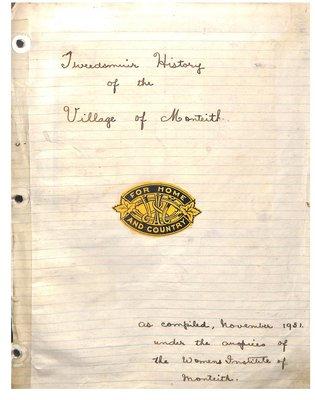Monteith WI Tweedsmuir Community History, Volume 2: 1913-76