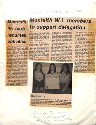 Monteith WI Tweedsmuir Community History, Volume 3: 1977-94