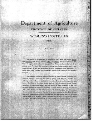 Cochrane District Membership Lists, 1927-31