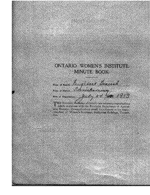 Englehart WI Minute Book, 1931-38