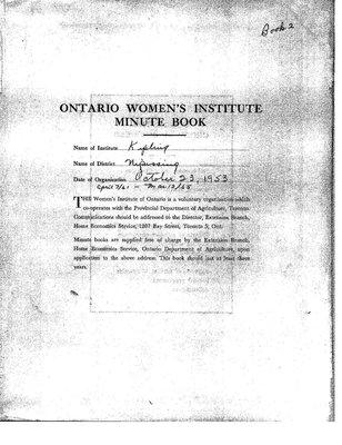Kipling Women's Institute Minute Book, 1961-65