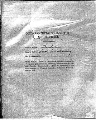 New Liskeard WI Minute Book, 1938-43