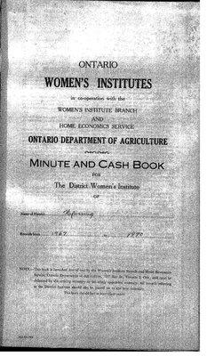 Nipissing District WI Minute Book, 1967-70