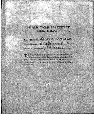 Sunday Creek WI Minute Book, 1940-42