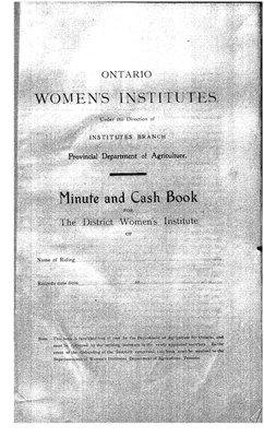 Temiskaming District WI Minute Book, 1916-20