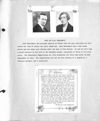 Bala WI Tweedsmuir Community History, Volume 1