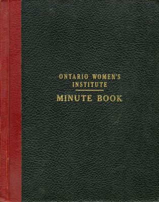 Friendship Circle WI Minute Book 1935-1939