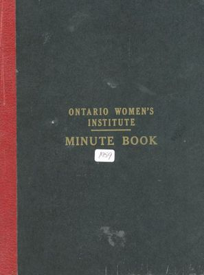 Friendship Circle WI Minute book 1959-64