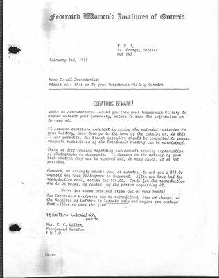 Boston WI Tweedsmuir Community History, Volume 1