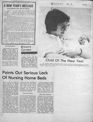 Browns WI Tweedsmuir Community History, 1977