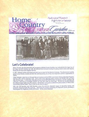 Browns WI Tweedsmuir Community History, 2007-2008