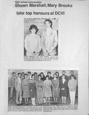Browns WI Tweedsmuir Community History, 1986-1987