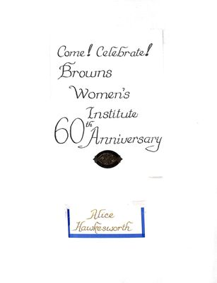 Browns WI Tweedsmuir Community History, Volume 14, 1998-1999