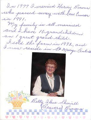 Browns WI Tweedsmuir Community History, Volume 17, 2000