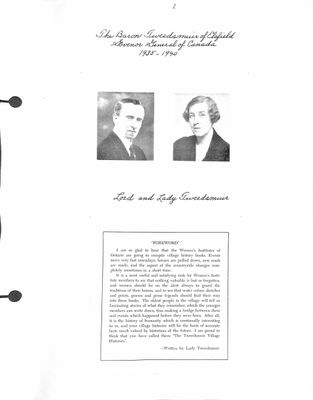 Browns WI Tweedsmuir Community History, Volume 2