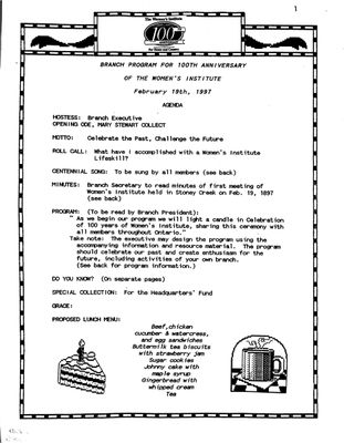 Browns WI Tweedsmuir Community History, Volume 6, 1997-1998