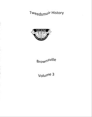 Brownsville WI Tweedsmuir Community History, Volume 3