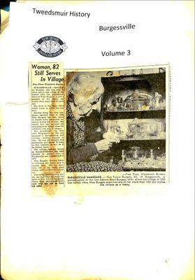 Burgessville WI Tweedsmuir Community History, Volume 3