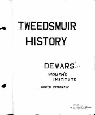 Dewars WI Tweedsmuir Community History, Volume 1 (1941-85)