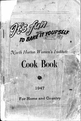 It's Fun To Bake It Yourself - North Horton Women's Institute Cook Book