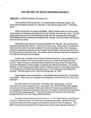 History of Renfrew South District, 1997