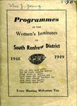 Renfrew South District WI Programs, 1948-49