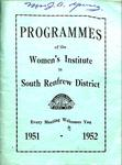 Renfrew South District WI Programs, 1951-52