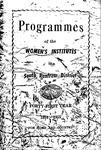 Renfrew South District WI Programs, 1954-55