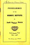Renfrew South District WI Programs, 1957-58