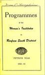 Renfrew South District WI Programs, 1963-64, 50th Anniversary