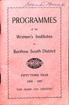 Renfrew South District WI Programs, 1966-67