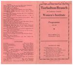 Torbolton WI Program Book 1937-38