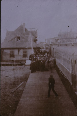 First Train on C.N.R in Parry Sound