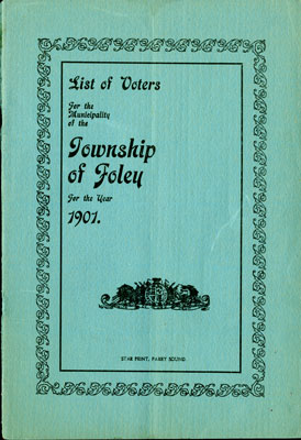 Foley Voters List 1901